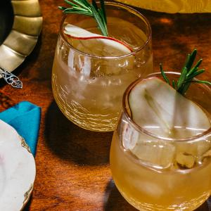 Sparkling Pear-Rosemary Punch