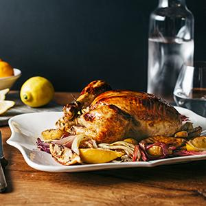 Lemon-Roasted Chicken with Fennel and Potatoes