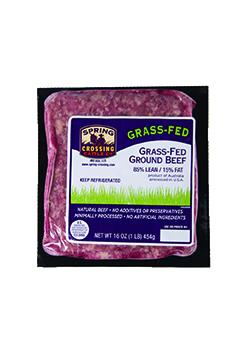 Spring Crossing Grass Fed Ground Beef 85% Lean/15% Fat