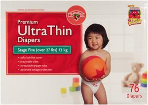 Hannaford Ultra Thin Size 5 Diapers