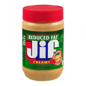 Jif Reduced Fat 16 Oz. Creamy Peanut Butter