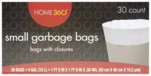 Home 360 4-gallon Small Garbage Bags
