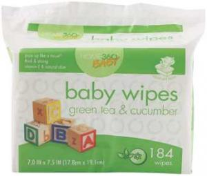 Home 360 Baby Green Tea And Cucumber Baby Wipes