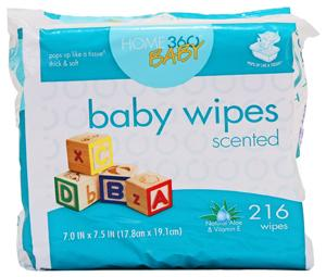 Home 360 Baby Scented Baby Wipes Refill