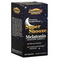 Sundown Naturals Super Snooze Melatonin Nighttime Formula