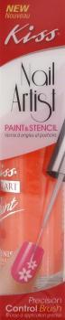 Kiss Nail Paint & Stencil Neon Orange