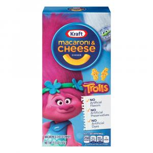 Kraft Macaroni & Cheese Cartoon Shapes