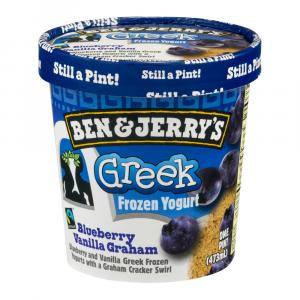 Ben & Jerry's Greek Frozen Yogurt Blueberry Vanilla Graham